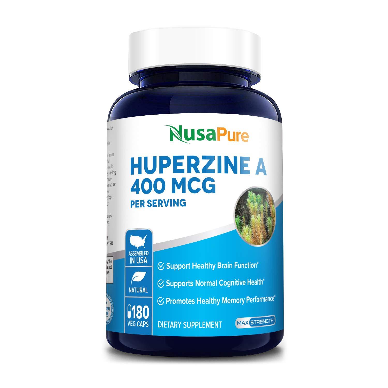 Huperzine A 400mcg 180 Veggie Capsules (Vegetarian, Non-GMO & Gluten-Free) - Nootropic Brain Supplement. Supports Healthy Brain Functions*