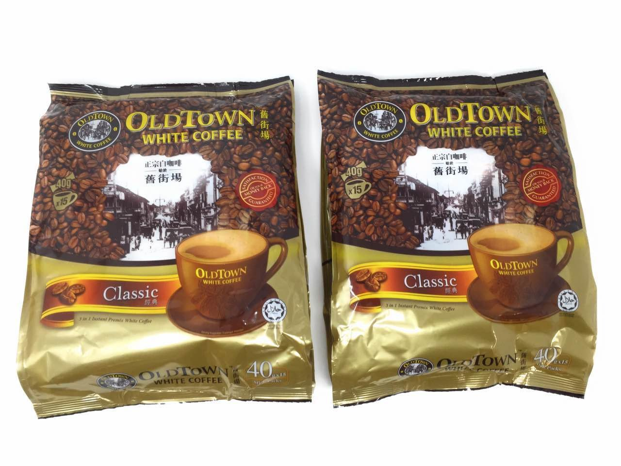 OLD TOWN 3 in 1 Classic White Coffee, 21.2 Ounce (2 Pack)