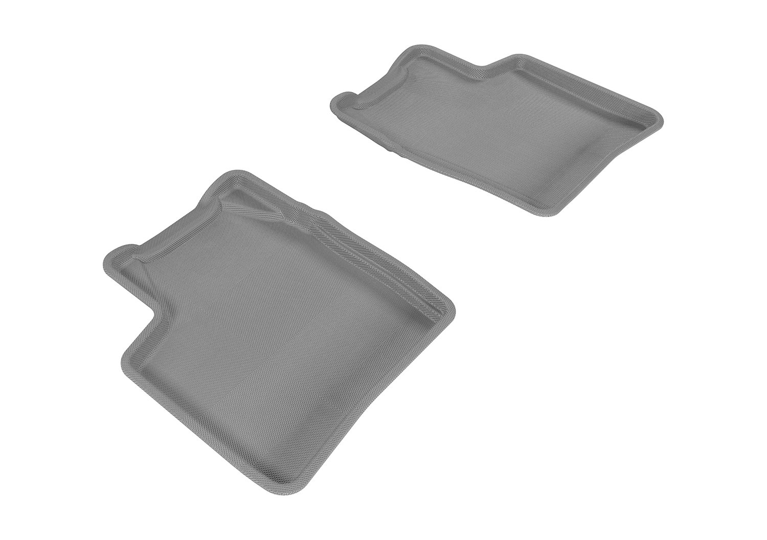 Tan 3D MAXpider Second Row Custom Fit All-Weather Floor Mat for Select Toyota Prius Models L1TY14521502 Kagu Rubber