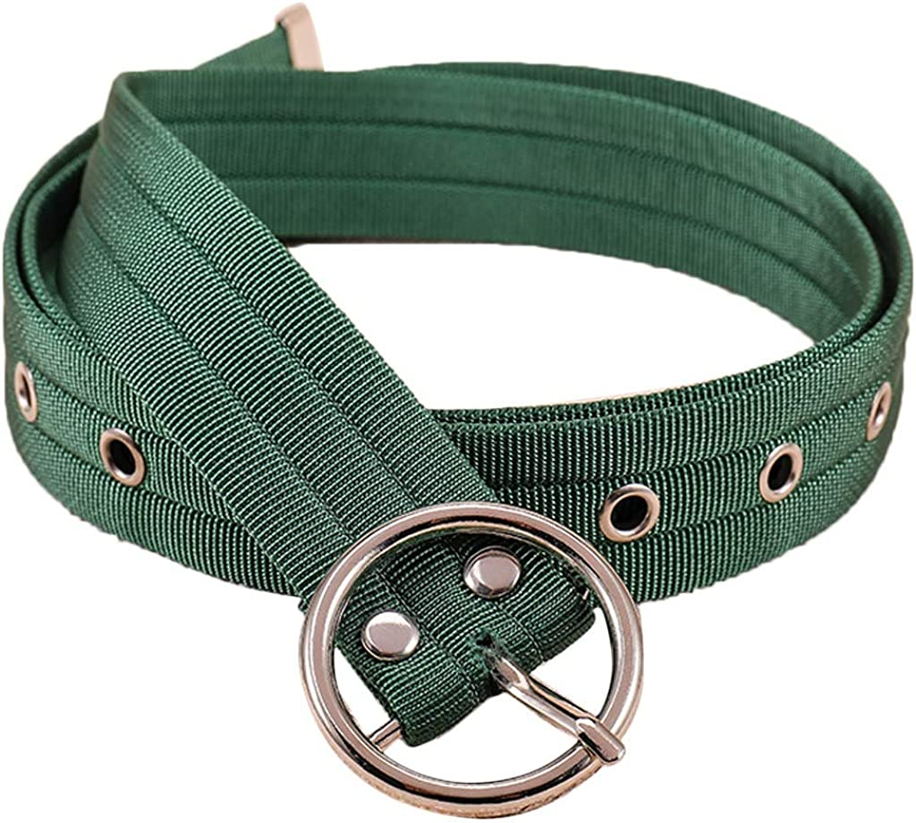 Pin Buckle Casual Waist Belts Canvas Solid Color Braided Belts Adjustable
