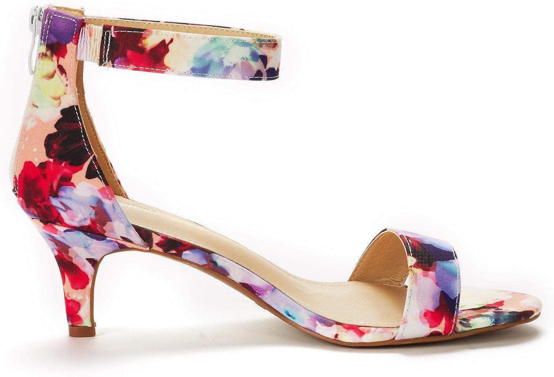 DREAM PAIRS Womens Fiona Fashion Stilettos Open Toe Pump Heels Shoes