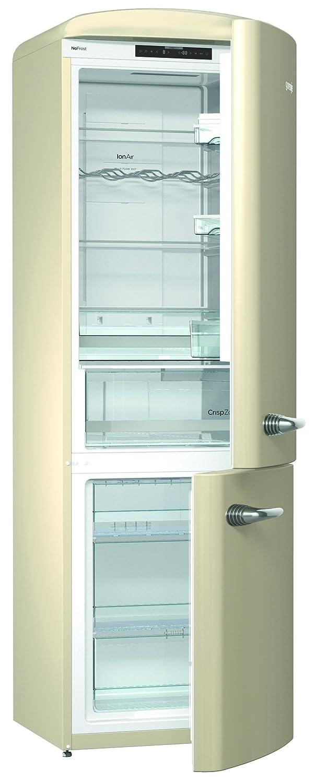 Gorenje ONRK 193 CO Kü hl-Gefrier-Kombination / A+++ / Hö he 194 cm / Kü hlen: 222 L / Gefrieren: 80 L / Braun / NoFrost / ZeroZone-Schubfach (0 Grad) / Oldtimer / Retro Collection