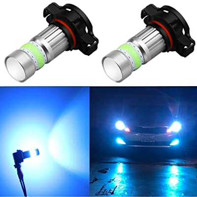 Alla Lighting 2800lm PSX24W 2504 LED Lights Bulbs 8000K Ice Blue Xtreme Super Bright COB-72 12V Car Fog Light Replacement 12276: Automotive