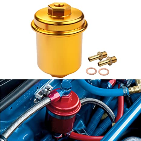 amazon com: dewhel jdm racing sport high flow volume fuel filter honda  civic accord acura integra gold: automotive
