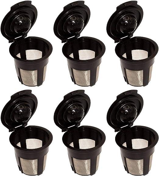 SODIAL - 6 filtros de cápsulas de café reutilizables para ...