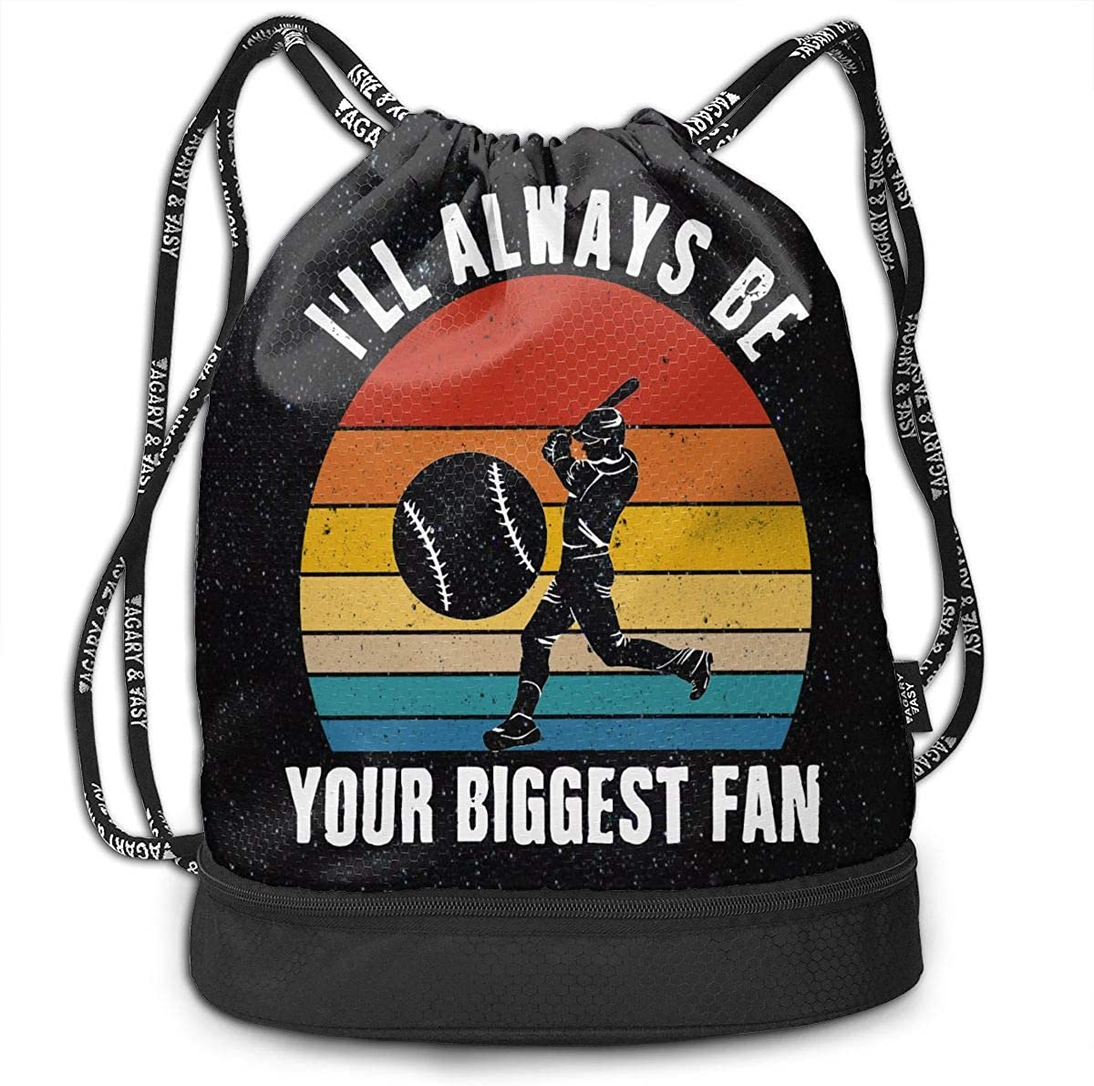 Xdfcvmalkwrj Unisex Mens Womans Ill Always Be Your Biggest Fan Durable Beam Backpack Gift