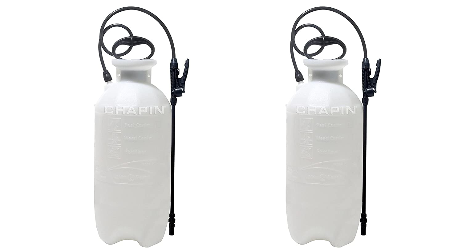 Chapin 20003 ZIvRdS Poly Lawn and Garden Sprayer For Fertilizer, Herbicides and Pesticides, 2Pack (3 gallon)