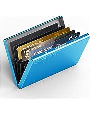 Card Genie Portafoglio Rigido Anti RFID Uomo/Donna in Acciaio Inox Satinato – Porta Carte di Credito/Tessere Schermato – 6 Scomparti