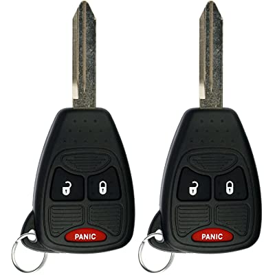 KeylessOption Keyless Entry Remote Control Car Key Fob Replacement for OHT692427AA KOBDT04A (Pack of 2): Automotive