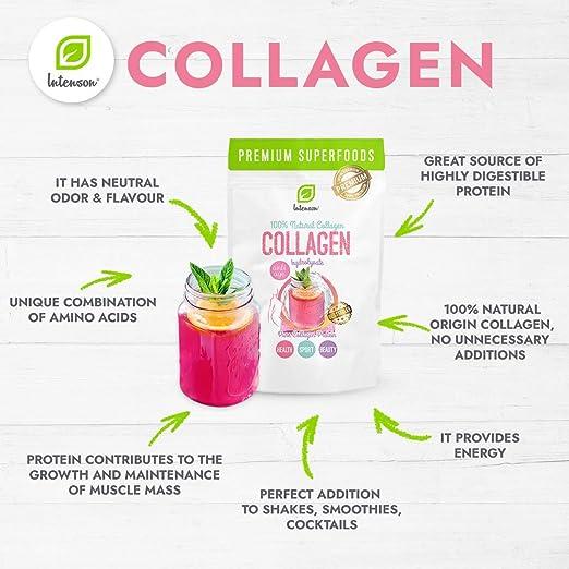 Intenson Premium colágeno hidrolizado Proteína en polvo