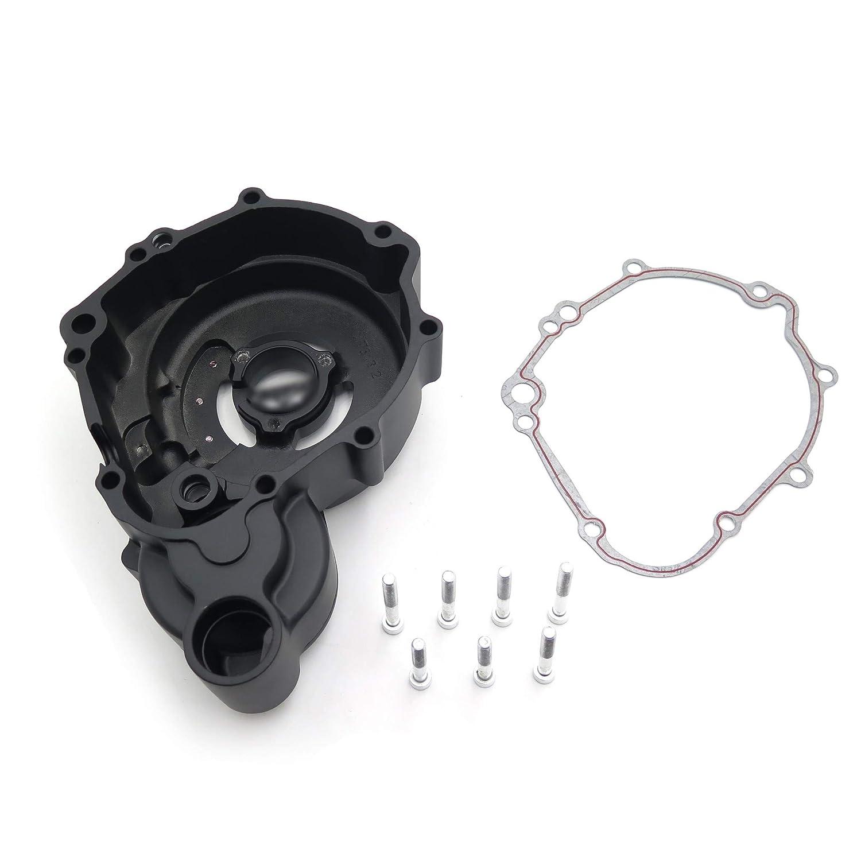 HTT Black Left Engine Stator Cover See Through For Suzuki 06-13 GSXR 600//750 w// gasket