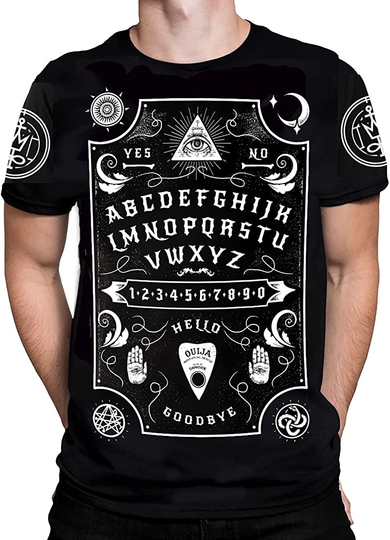 Halloween Bleached Tee Ouija Board