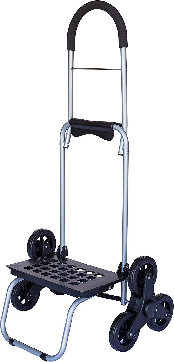 dbest products Stair Climber Mighty Max Personal Dolly, Black Handtruck Hardware Garden Utility Cart