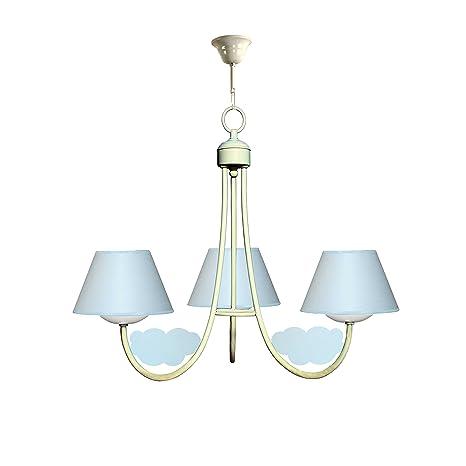Lámpara infantil de techo de 3 luces color blanco con ...
