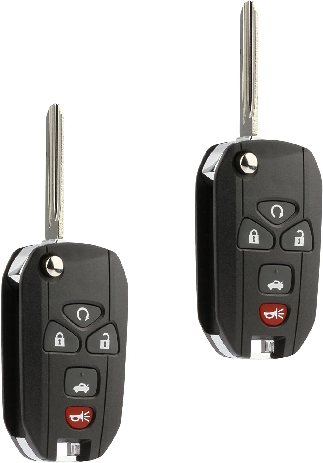 Pontiac Saturn Set of 2 22733524, KOBGT04A, 3521A-T04A Car Flip Key Fob Keyless Entry Remote fits Chevy