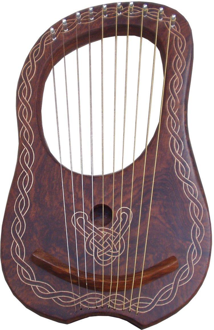 Lyra Arp - Cuerdas de metal para arpa de madera de palisandro, 10 unidades Aluma Craft