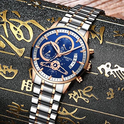 Men's Quartz Watches Luxury Brand Business Watch Stainless Steel Sport Waterproof Wristwatch Male Clock