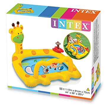 Intex - Piscina hinchable para bebe, 112 x 91 x 72 cm, diseño jirafa (57105NP)