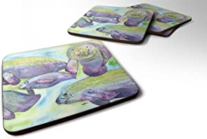 Caroline's Treasures Manatee Foam Coasters (Set of 4), 3.5
