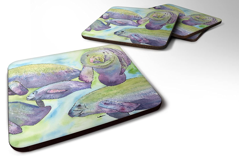Amazon.com | Carolines Treasures 8544FC Set of 4 Manatee ...