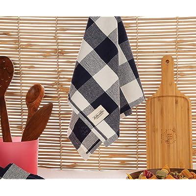 Buy Blue Plaid Kitchen Towels Buffalo Plaid Kitchen Towels Navy Blue Plaid Dish Towels Buffalo Check Kitchen Towels Checkered Kitchen Towels Kitchen Towels Cotton Set Of 3