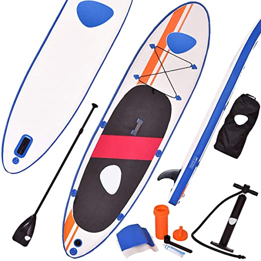 COSTWAY Tabla Hinchable Paddle Surf Sup 330 x 76 x15cm Board Stand ...