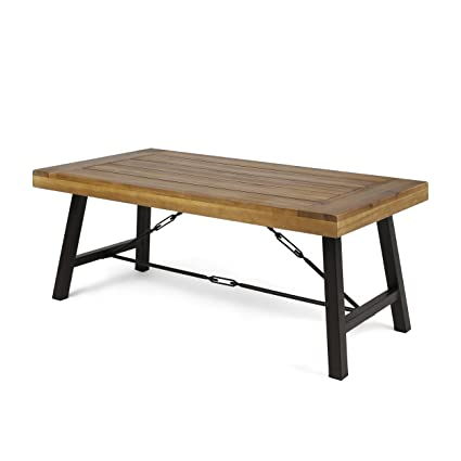 Amazon Com Great Deal Furniture Easter Outdoor Acacia Wood Coffee