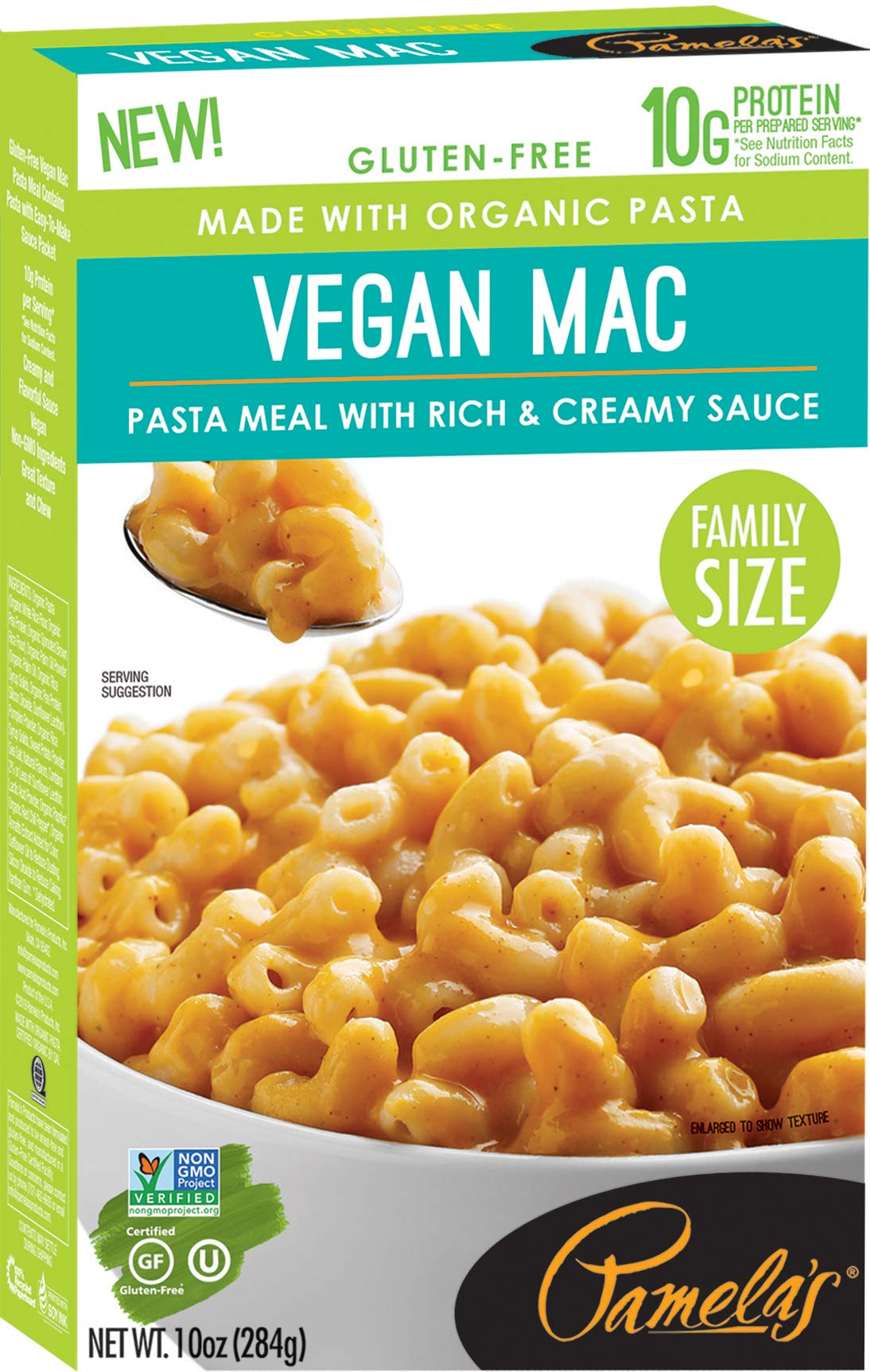 Pamela's Products Gourmet Gluten Free High Protein Family Size Vegan Mac & Cheese Pasta Meal, 12 Count by Pamela's Products