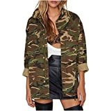 Taiduosheng Womens Loose Thin Camouflage Coats Disposition Outwear Jackets