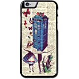 Vintage Alice In Wonderland And Dr Who iPhone 6 Case, iPhone 6S Case, Hard Case Cover Skin For iPhone 6 4.7 Inch