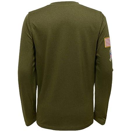 1c44105a Amazon.com : Nike Seattle Seahawks Youth Boys 2018 Salute to Service  DRI-FIT Long Sleeve Shirt Youth Medium (10-12) : Sports & Outdoors