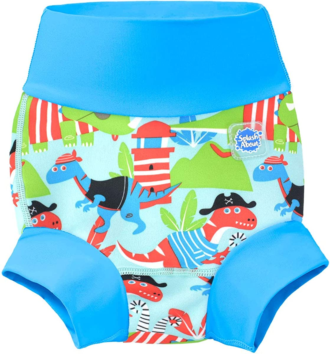 Splash About Baby Kids New Improved Happy Nappy,Multicoloured Dino Pirates ,3-6 months