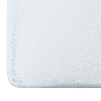 AVI Water-Proof Terry Cotton Mattress Protector for King Size Bed (72x78 Inch) (6 ft. x 6.5 ft.) in White - 220 GSM