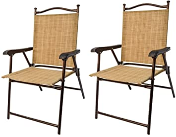 Amazoncom Greendale Home Fashion Outdoor Sling Back Chairs Set of