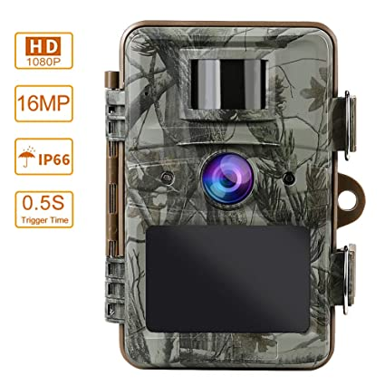 6136611e56ef6 MOPHOTO Trail Camera 16MP 1080P Hunting Game Camera with Night Vision  Motion Activated Waterproof Wildlife Monitoring 120° Detecting Range 2.4