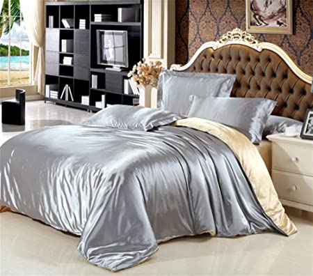 Beau PengweiSummer Silk Four   Piece Ice Silk Blanket Bed Sheets Silk Bedding ,  1.5m (