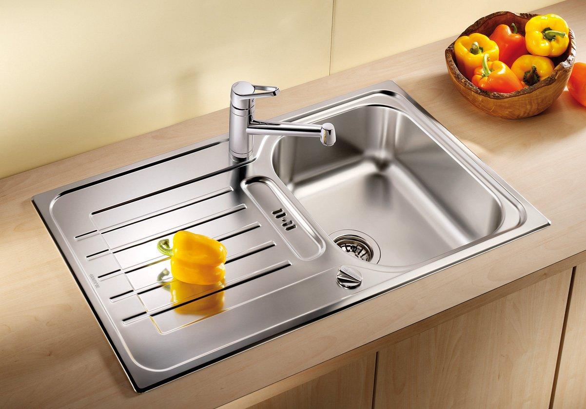 Blanco Zia 45 S, Küchenspüle, reversibel, Edelstahl Bürstfinish ...