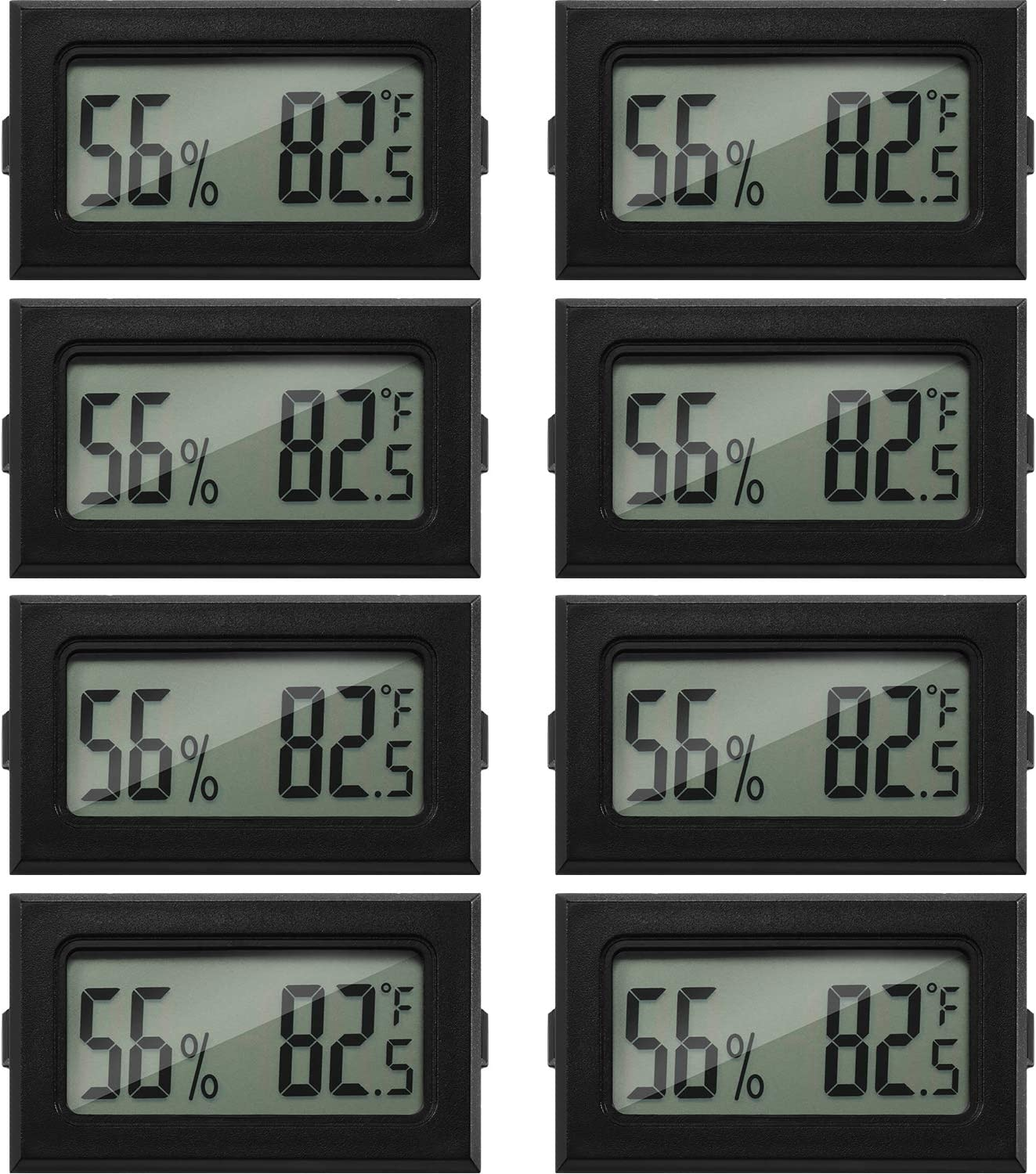 Mini Hygrometer Thermometer Digital Fahrenheit Temperature Humidity Meter Gauge LCD Display Indoor Thermometer Hygrometer for Home Incubators Reptile Greenhouse and Office (8)