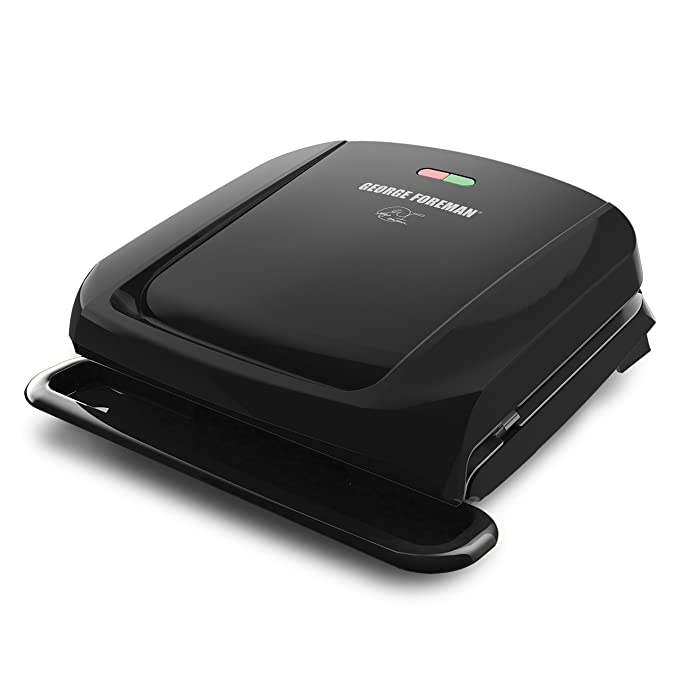George Foreman 4-Serving Removable Plate and Panini Press, Black, GRP1060B – The Most Affordable Grill