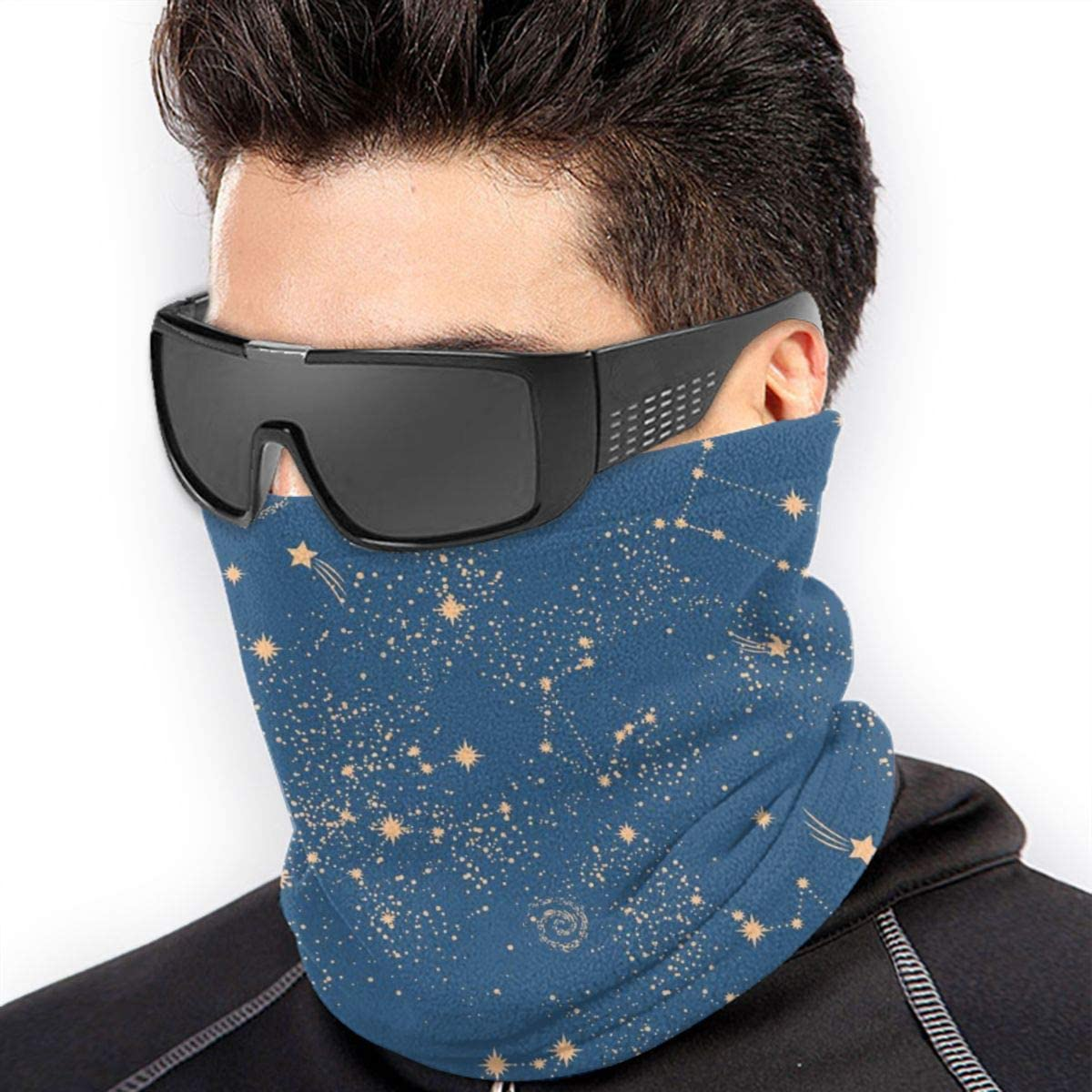 Space Galaxy Constellation Seamless Pattern Print Could Be Used for Textile Unisex Winter Fleece Neck Warmer Gaiters Hairband Cold Weather Tube Face Mask Thermal Neck Scarf 9.8x11.8 inch