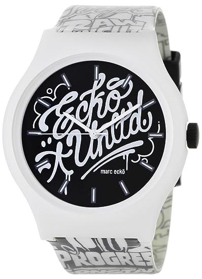 Marc Ecko Reloj Análogo clásico para Hombre de Cuarzo con Correa en Caucho E06515M1: Marc Ecko: Amazon.es: Relojes