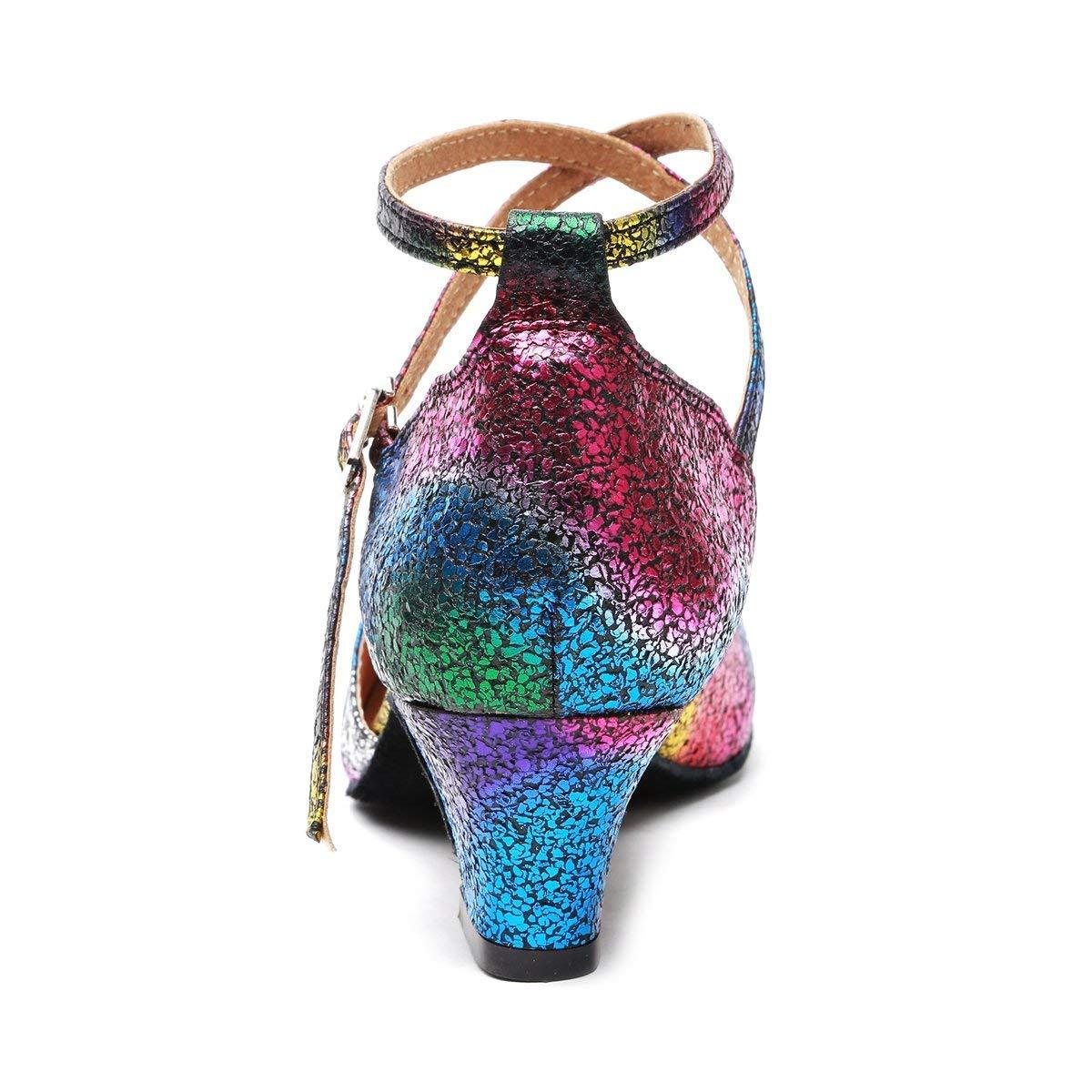 ZHRUI Damenmode Formale Knöchelriemen Glitter Latin Salsa Tanzschuhe Formale Damenmode Hochzeit Pumps (Farbe   MultiFarbe-5cm Heel, Größe   4 UK) 4398c2