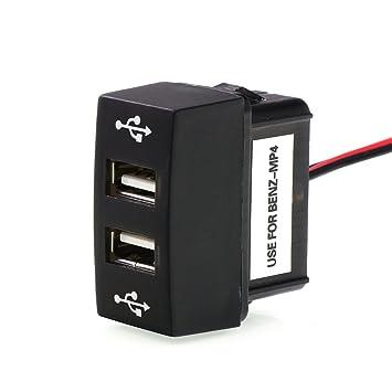 Timloon Cargador USB Dual de 5 V 2,1 A/2,1 A para Coche con ...