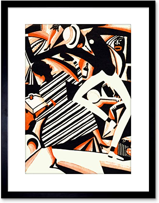 Painting Drawing African American Jazz Reiss Colour Framed Wall Art Print Poster