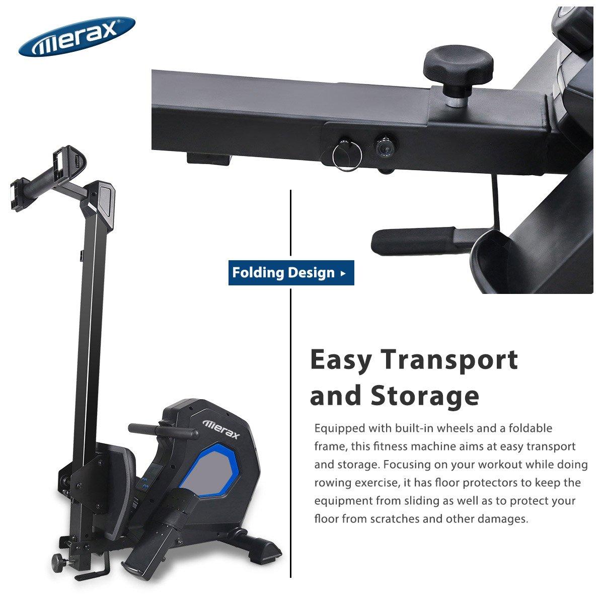 Merax Magnetic Exercise Rower Adjustable Resistance Rowing Machine (BK) by Merax (Image #3)