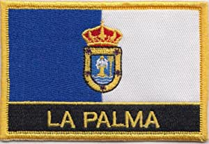 La Palma Islas Canarias España Bandera Bordada rectangular parche ...
