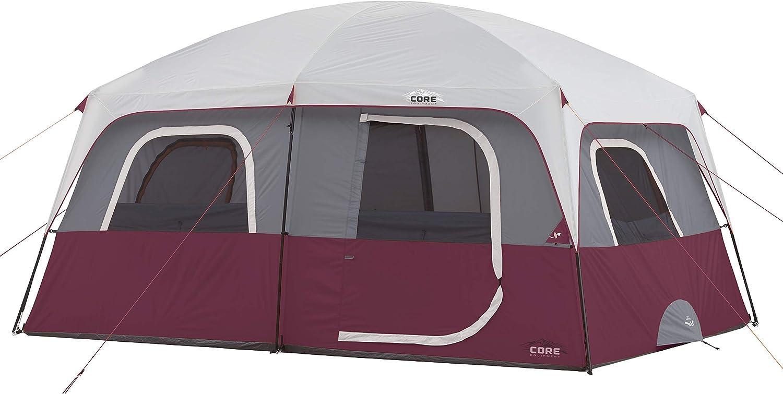Core 10-Person Straight-Wall Cabin Tent