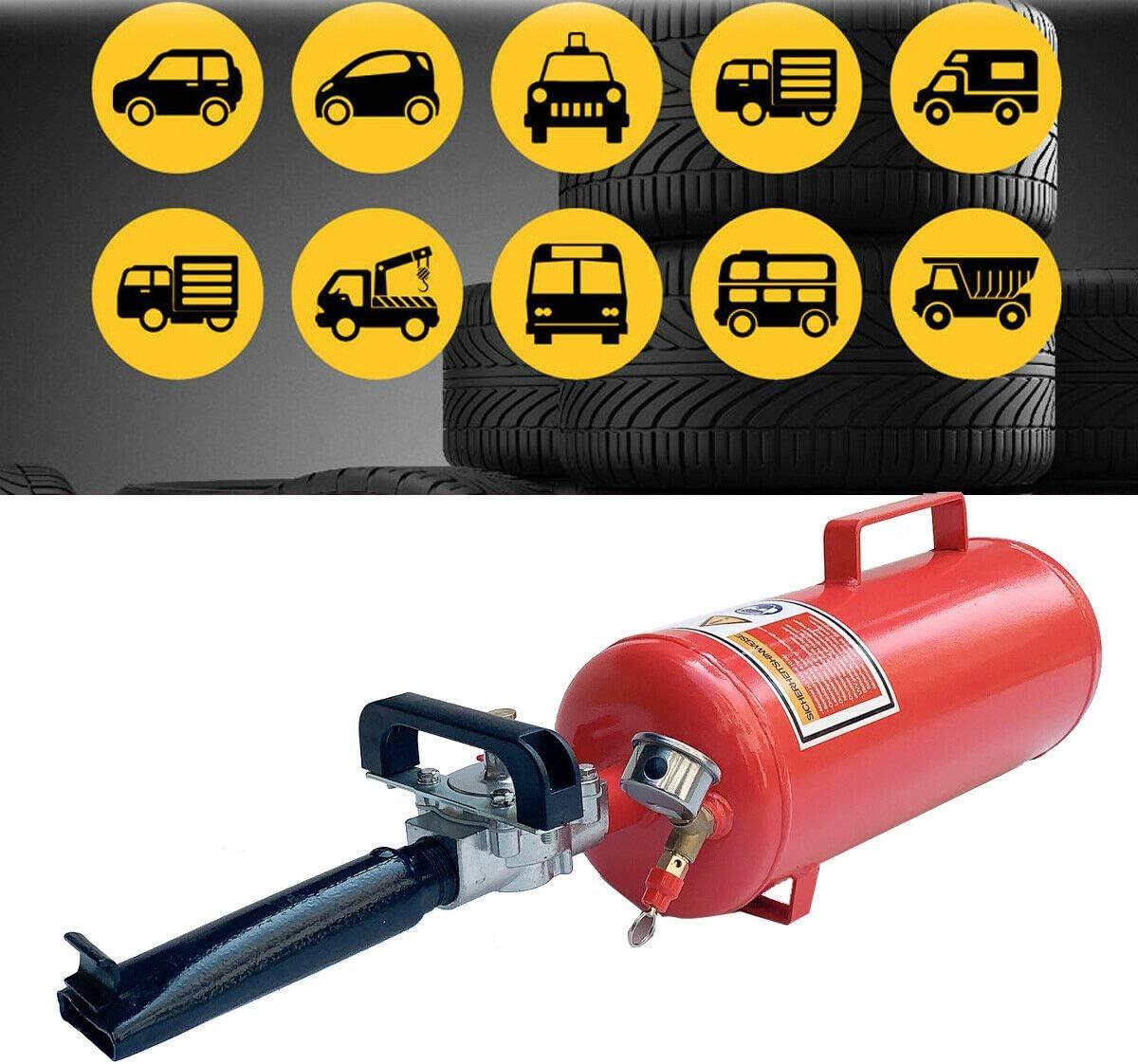 DOMINTY 8L Reifen Reifenf/üller Booster Reifenschockf/üller Airbooster Auto ATV Luftkanone Bef/üllhilfe Schockf/üller Reifenbooster 2.1 Gallon Tire Bead Seater 87-116 PSI f/ür schlauchlose Reifen