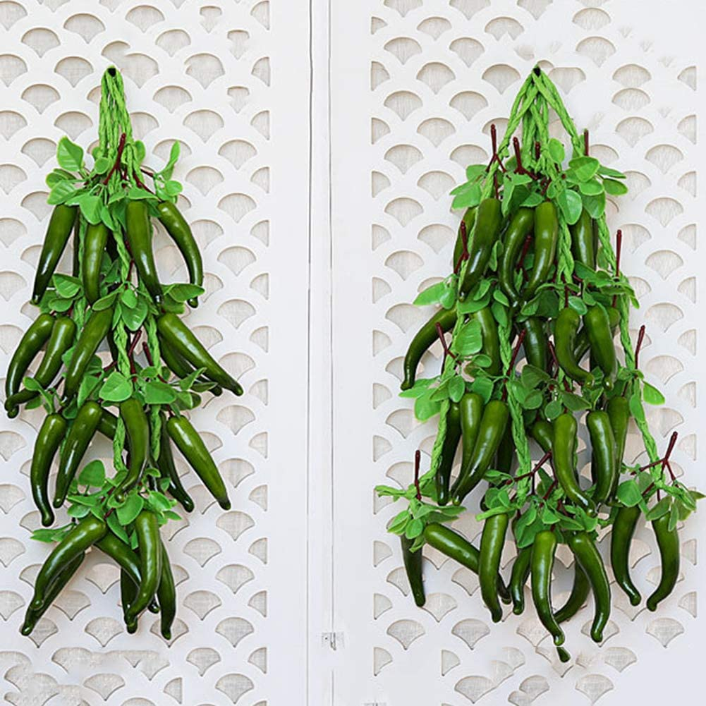 Cuisine Cozyhoma Guirlande de Faux poivrons artificiels pour d/écoration Murale de Maison No/ël