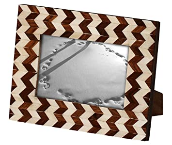 mothers day gifts 4x6 wooden photo frame picture frames 6x4 chevron stripes wooden